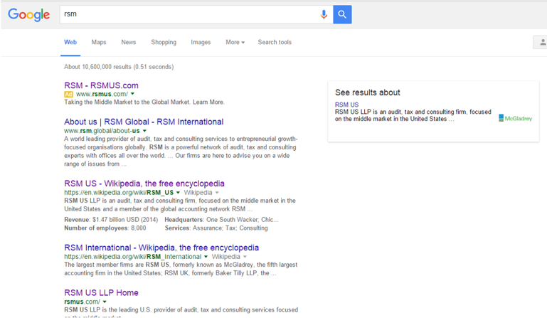 Leading up to the transition, search results were unclear and not wholly representative of the new branding.