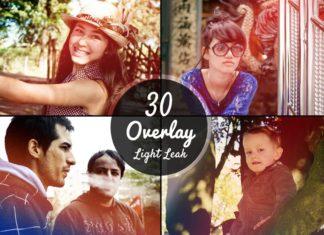 30 Free Light Leaks Overlay Textures