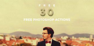 30 Free Vintage Photoshop Actions Bundle