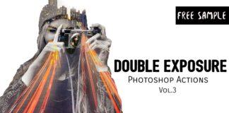 Free Double Exposure Photoshop Actions Vol.3