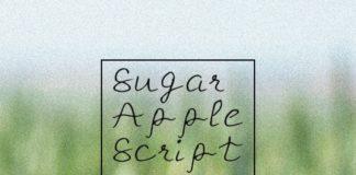 Free Sugar Apple Script Handmade Font