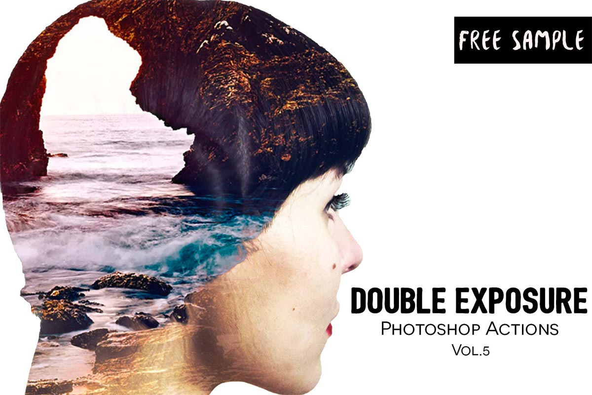 Free Double Exposure Photoshop Actions Vol. 5