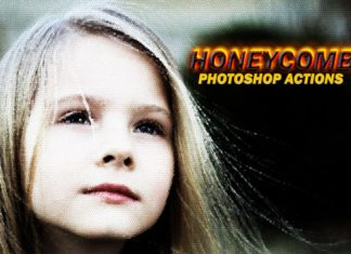 Free Honeycomb Photoshop Actions