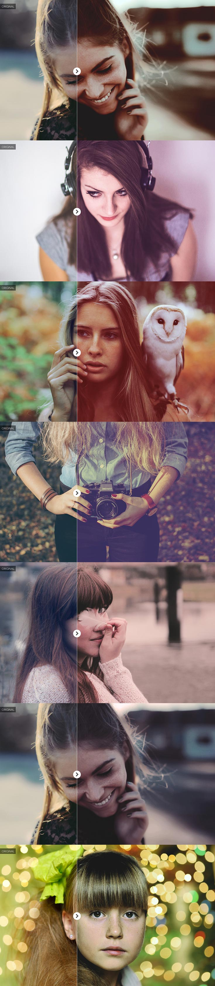 40 Free Effect Photoshop Actions