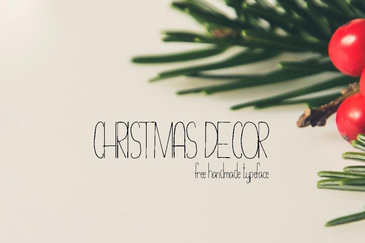 Free Christmas Decor Hand Drawn Typeface