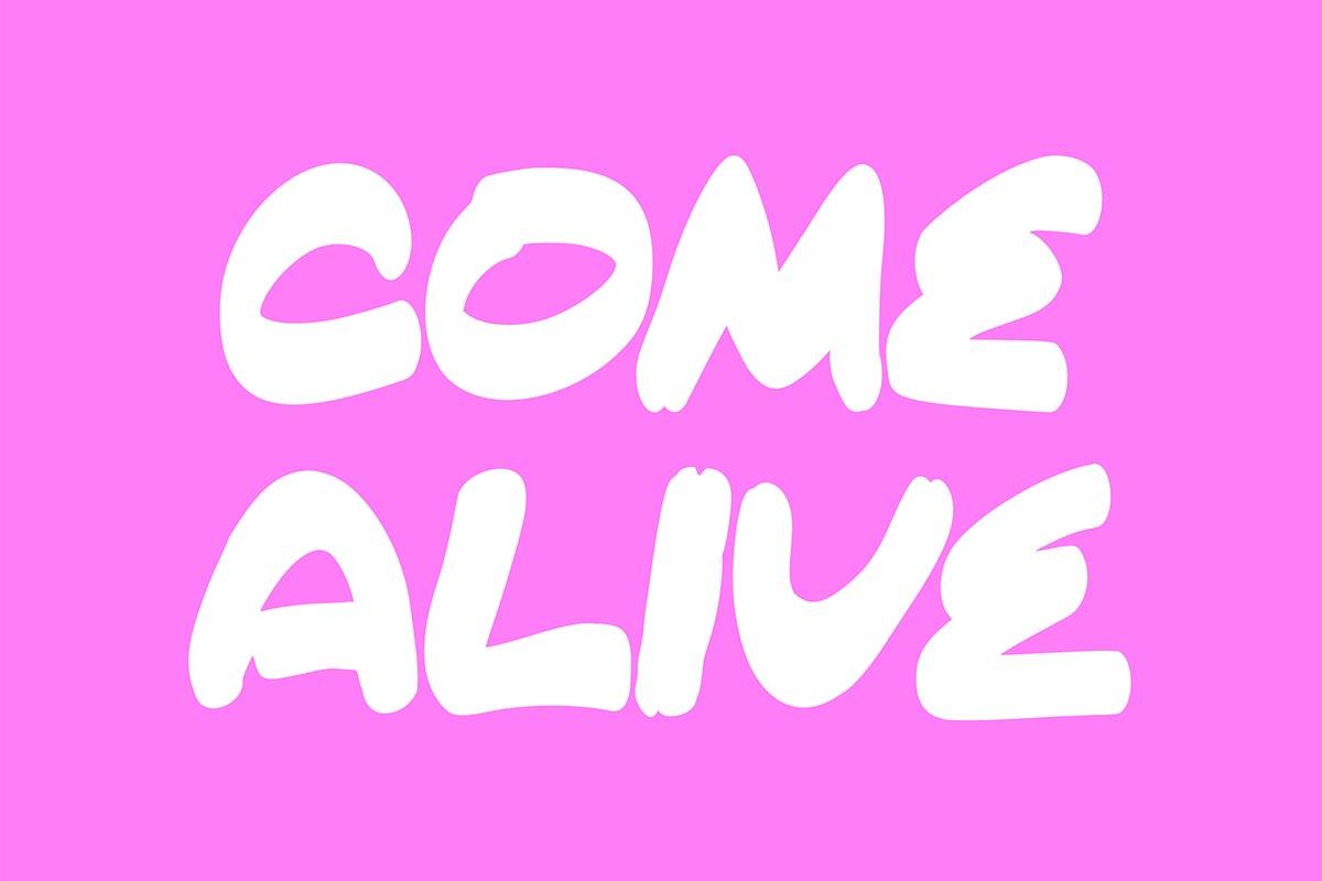 Free Come Alive Brush Font