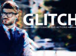 Free Glitch Effect PSD Photoshop Action Kit