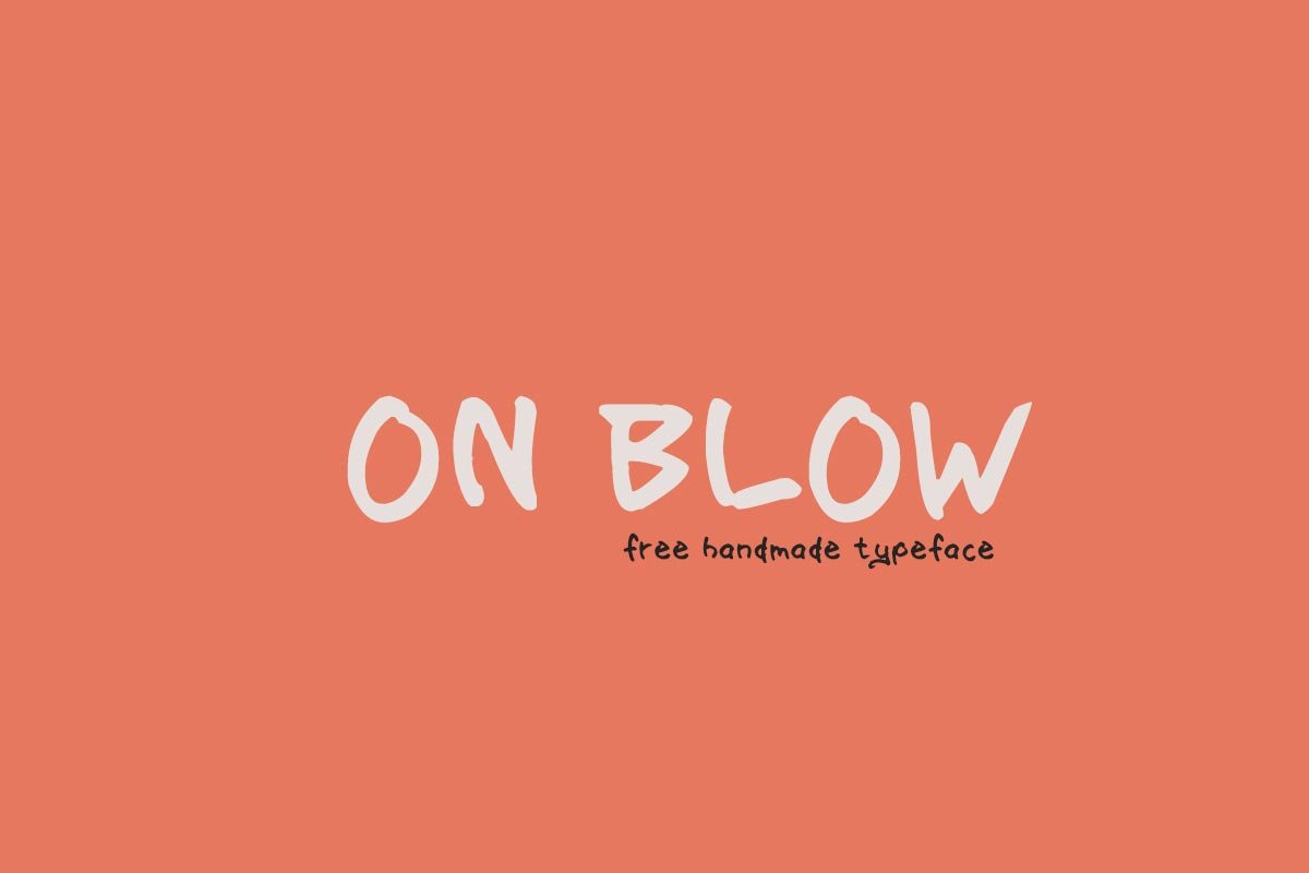 Free On Blow Typeface