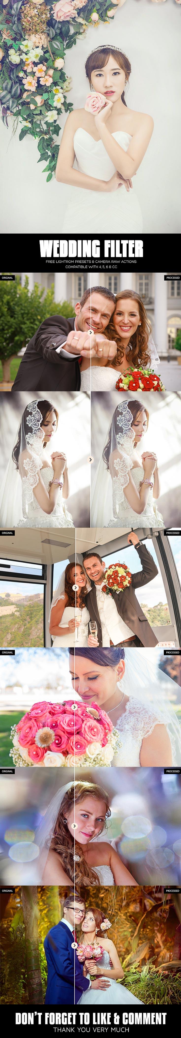 10 Free Wedding Lightroom Presets