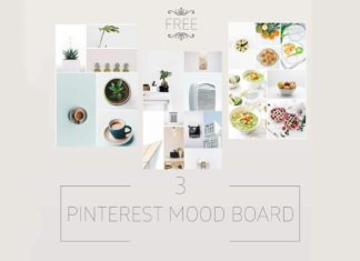 Free Minimalist Pinterest Mood Board Templates