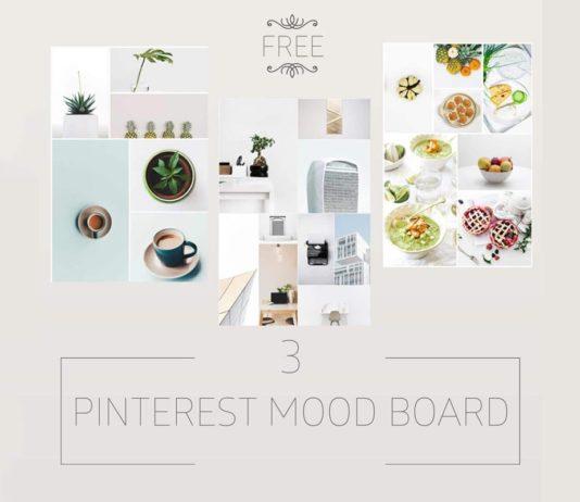 Free Minimalist Pinterest Mood Board Templates