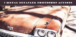 7 Free Metal Detailer Photoshop Actions