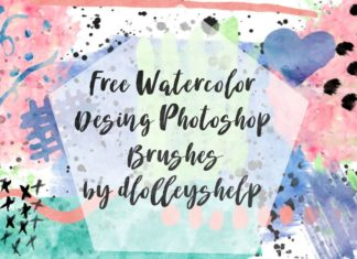 Free Watercolor Design Brushes