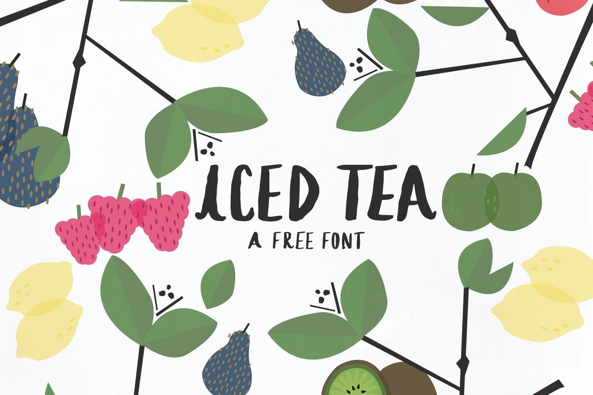 Free Iced Tea Display Font