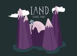 Free Land Display Font