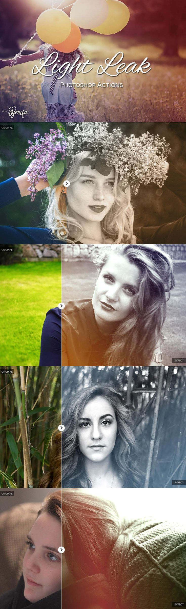25 Free Light Leaks Photoshop Actions