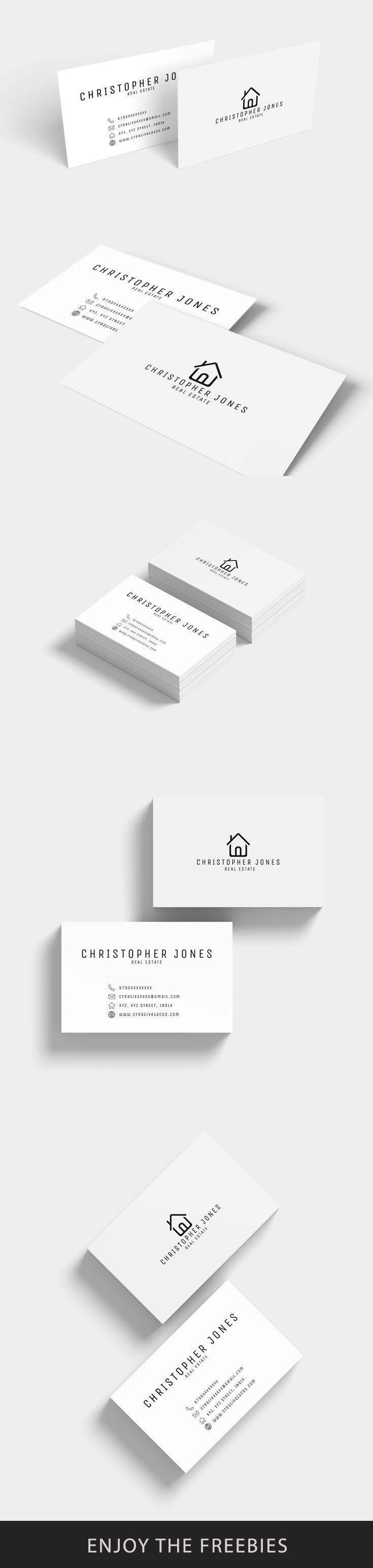 Free Real Estate Minimal Business Card