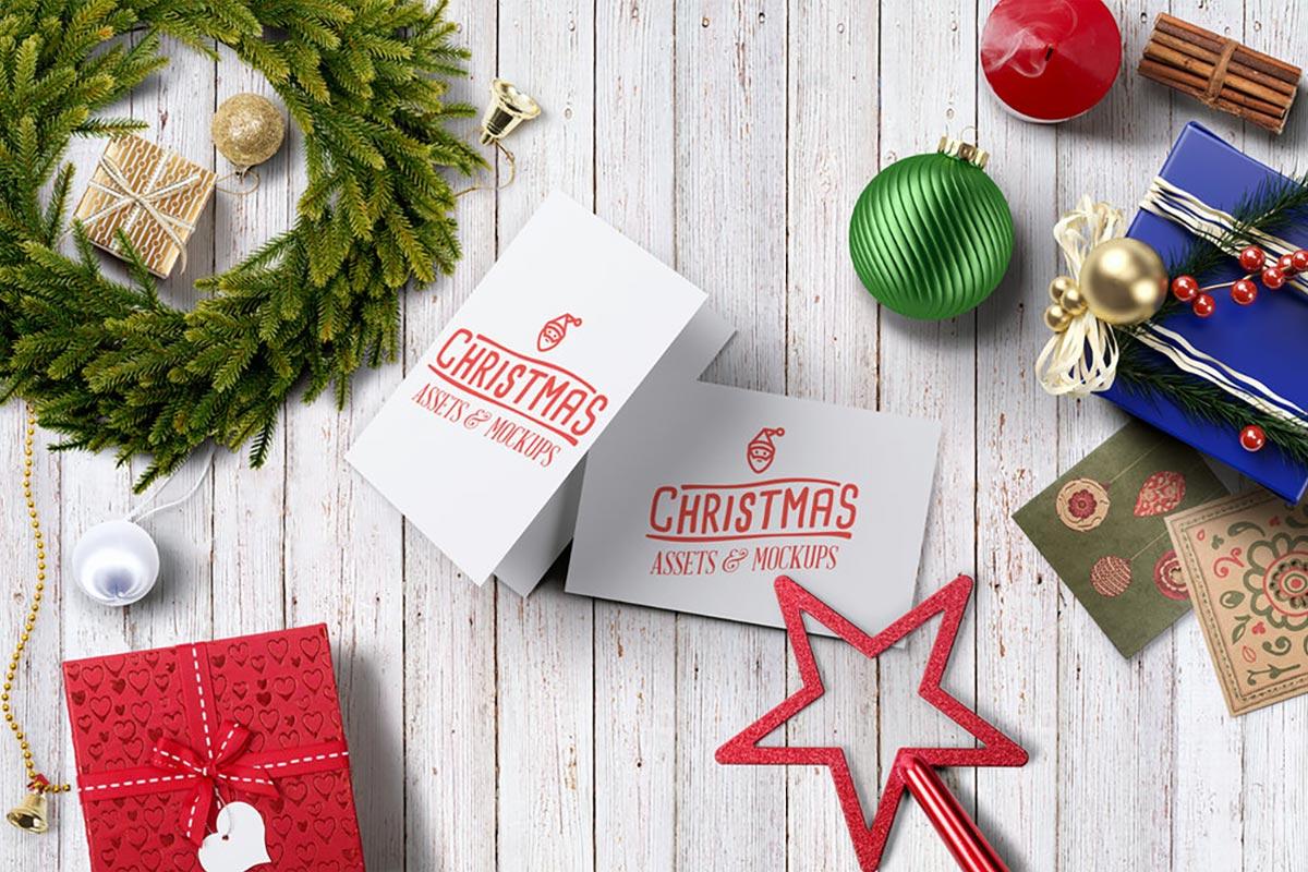 Free Christmas Assets Mockups Demo
