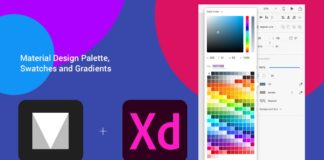 Free Material Design Palette, Swatches and Gradients