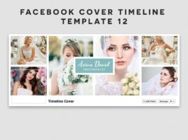 Free Facebook Cover Timeline Template 12