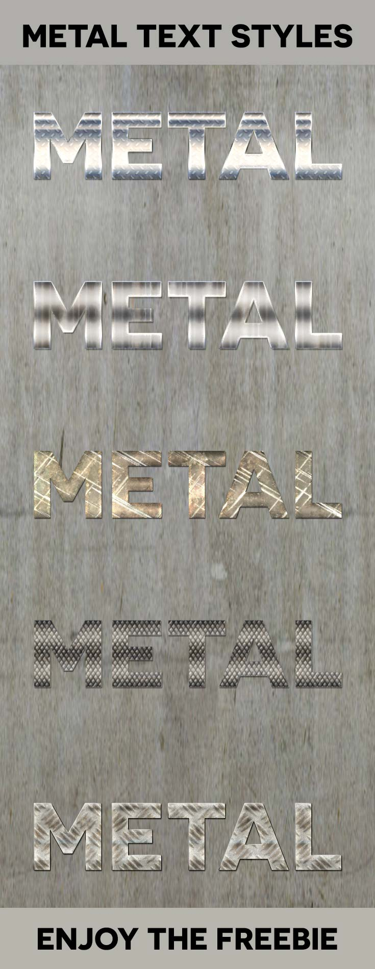 Free Metal Text Styles