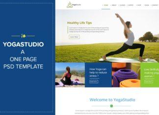 Free Yoga Studio PSD Template