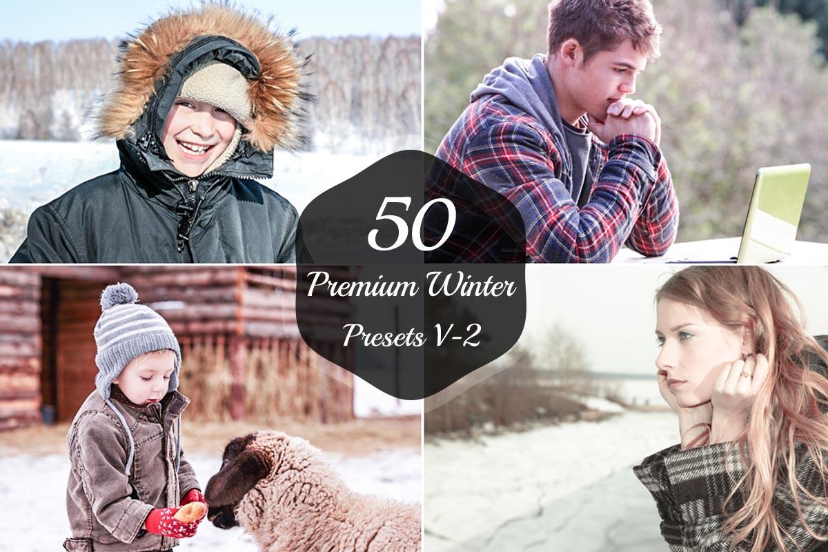 50 Free Winter Lightroom Presets Version 2