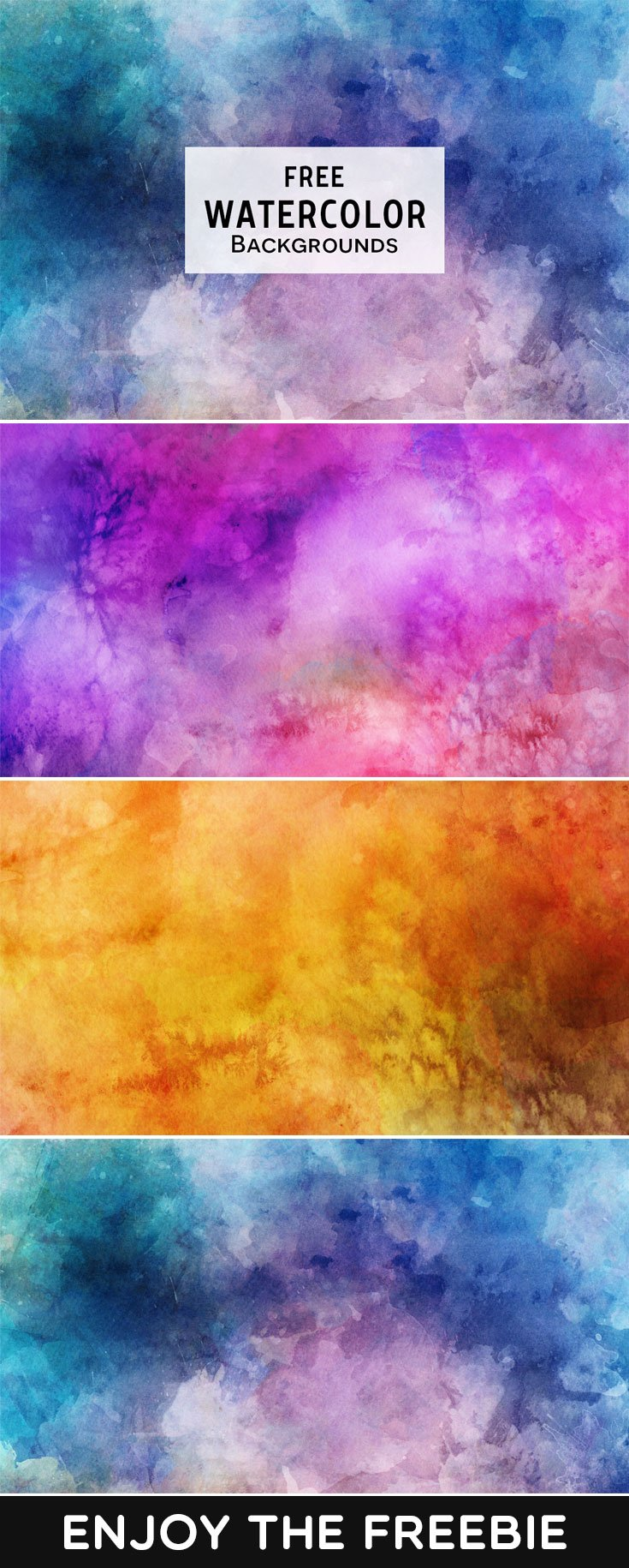 3 Free Watercolor Backgrounds