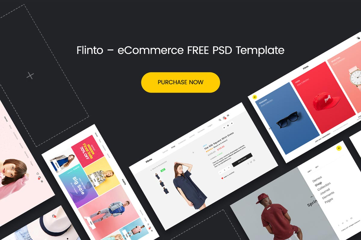 Free Flinto eCommerce PSD Template