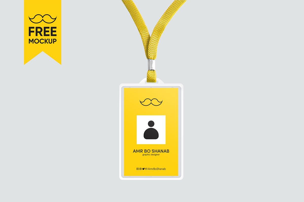Free ID Card Mockup PSD Template