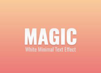 Free White Minimal PSD Text Effect