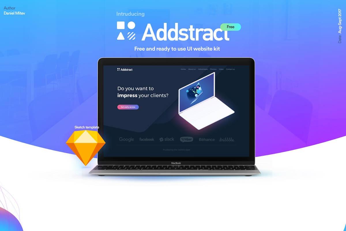 Free Addstract UI Kit
