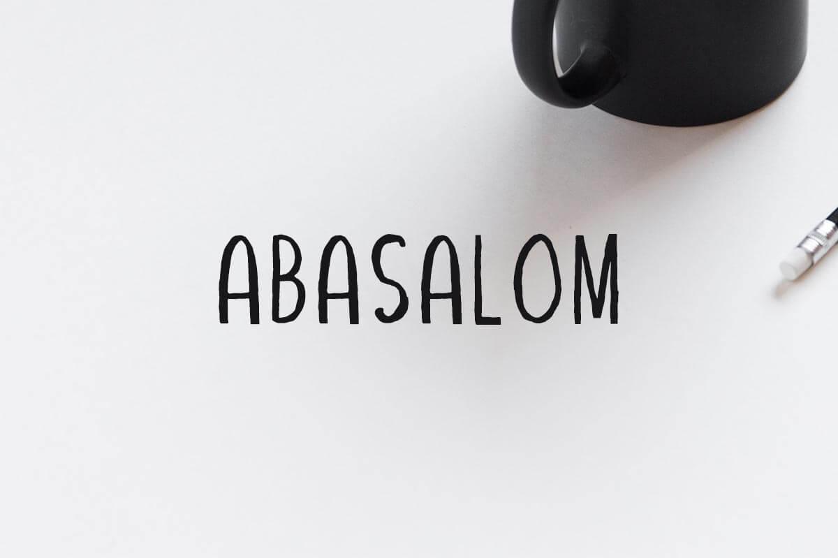 Free Abasalom Handwriting Font