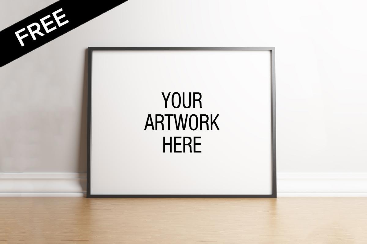Free Landscape Poster Frame Mockup