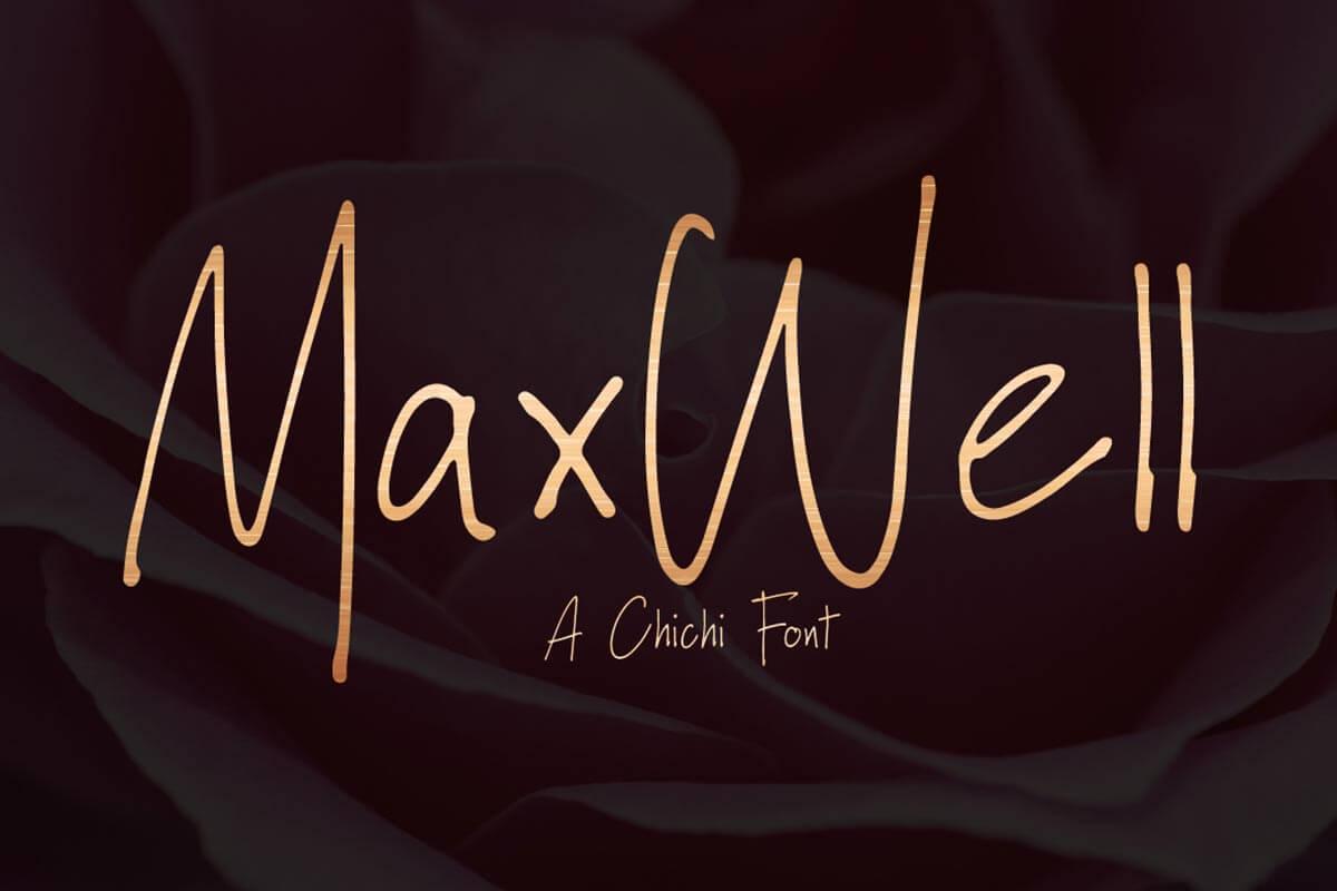 Free Maxwell Handwritten Font