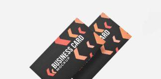 Free Modern Business Card Mockup
