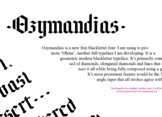 Free Ozymandias Blackletter Font