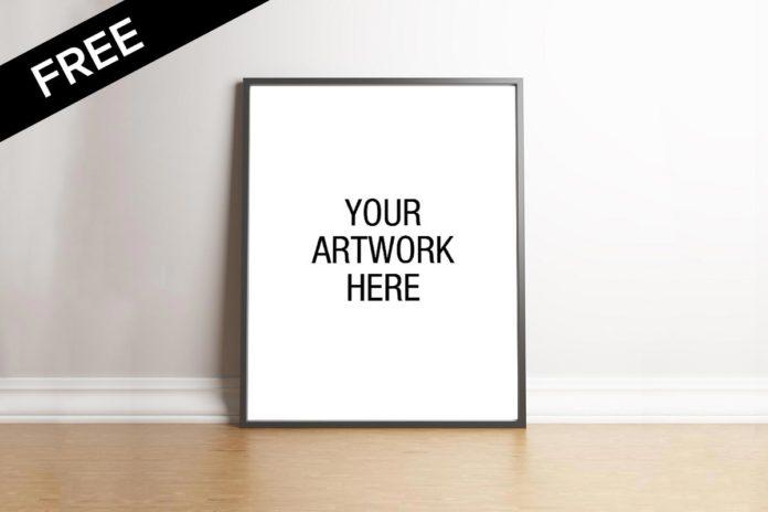 Free Portrait Poster Frame Mockup