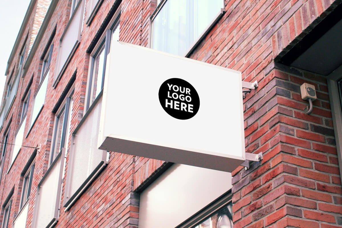 Free Restaurant Coffee Office Signs Mockups PSD