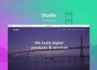 Free Studio Adobe Xd Template