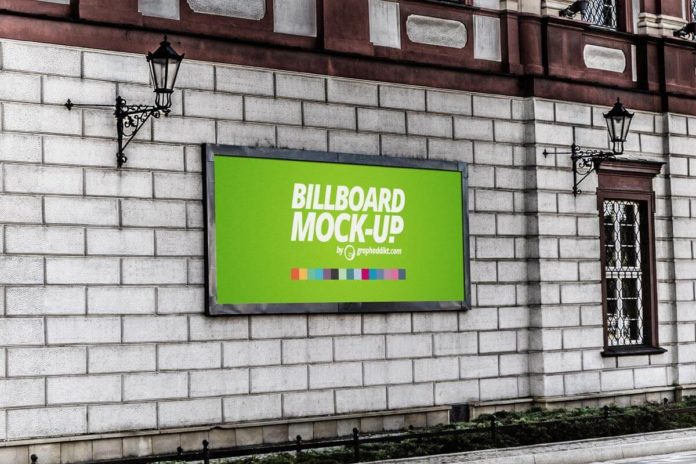 Free Billboard Poster Mockup Ver. 2