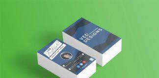 Free Flat Business Card Mockup