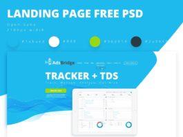Free AdsBridge Landing Page Design PSD