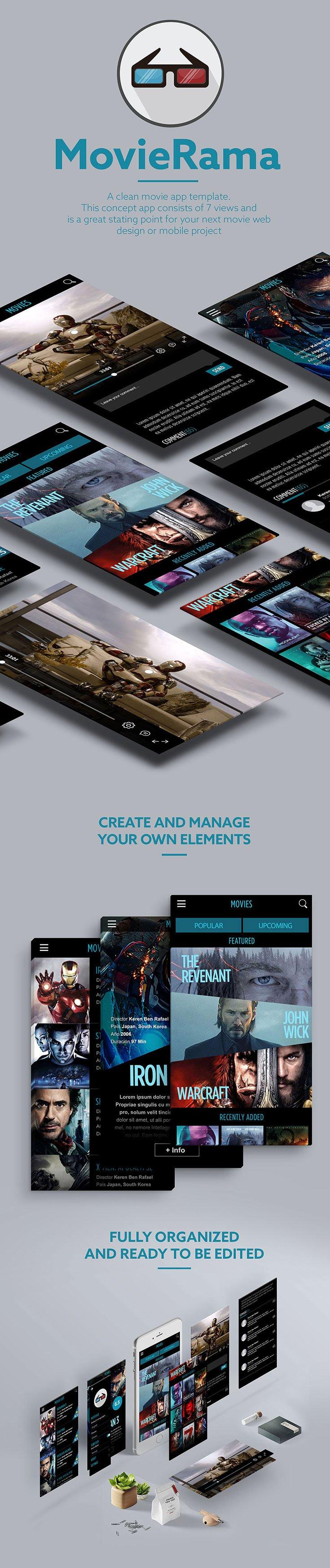 Free MovieRama UI Kit