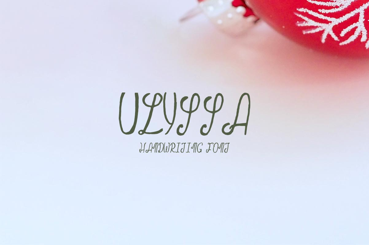 Free Ulyssa Demo Handwriting Font