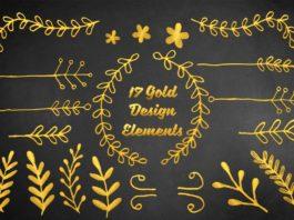 17 Free Gold Design Elements