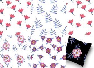 Watercolor Handdrawn Patterns