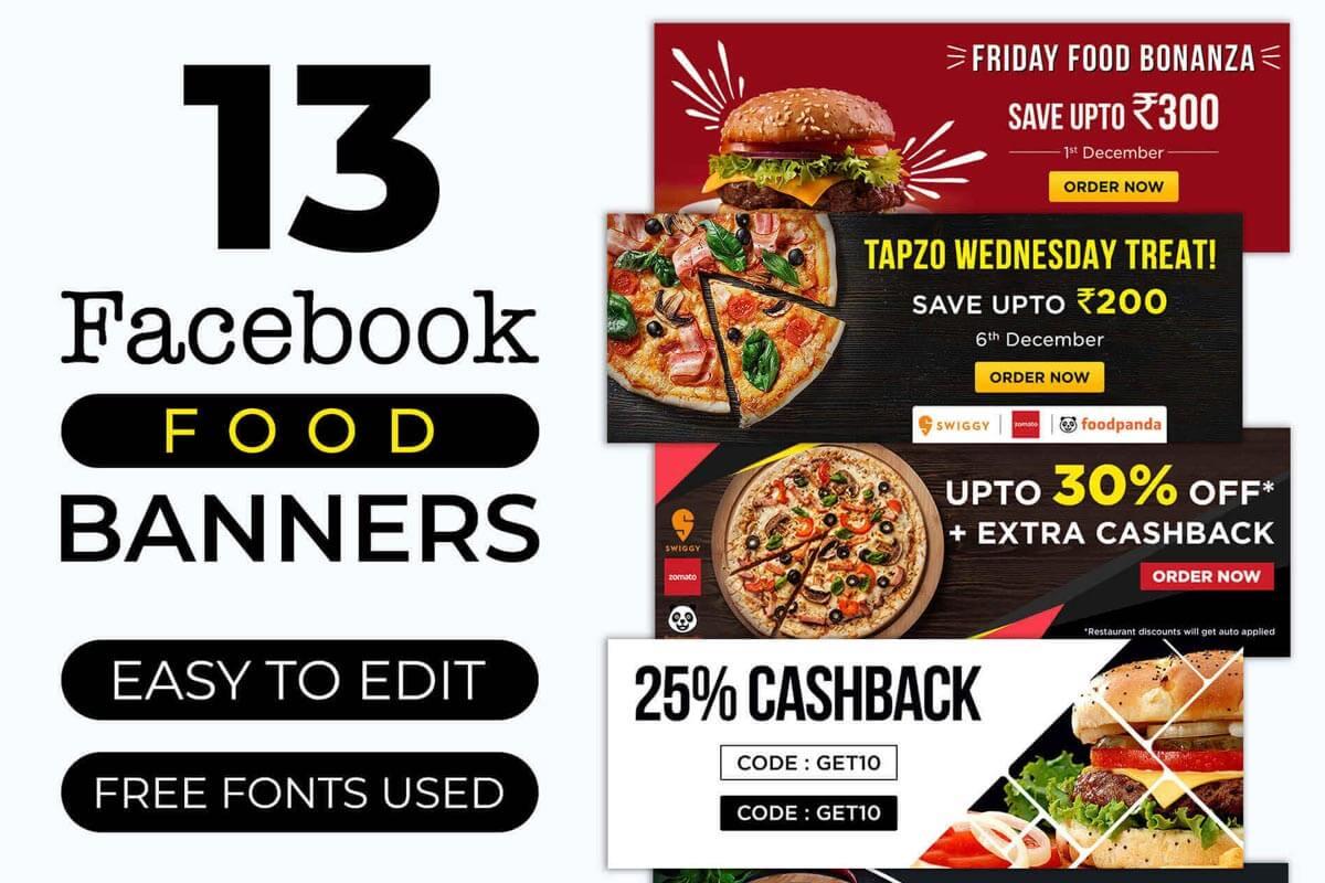 Free Social Media Food Banners PSD