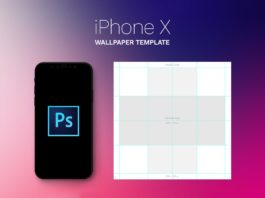 Free iPhone X Parallax Wallpaper Template