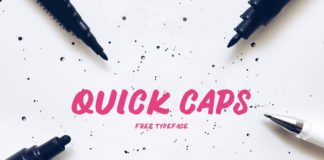 Free Quick Caps Handwritten Font
